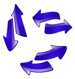 The abstract arrow. Eps 8 stock illustration