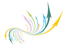 Abstract arrow background Royalty Free Stock Photo