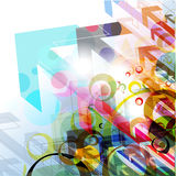 Abstract arrow background. Abstract colorful arrow background, Vector illustration Stock Photos