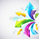 Abstract arrow background Stock Images