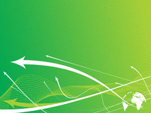 Abstract arrow background. With green wave line royalty free illustration