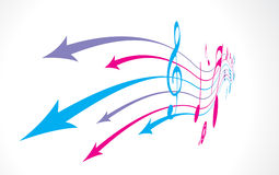 Abstract arrow background. With music note back ground royalty free illustration