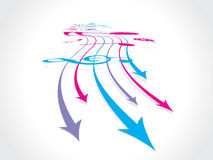 Abstract arrow background. With music note stock illustration