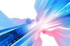 Abstract Arrow Background. Digital illustration Royalty Free Stock Images
