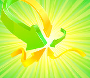 Abstract arrow background with green summer Royalty Free Stock Images