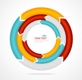 Abstract arrow banner for text. Circle diagram. Vector Stock Photo