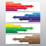 Abstract Arrow Banner, Vector Work. The Abstract Arrow Banner, Vector Work Stock Images