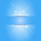 Abstract arrow on blue paper background Stock Image