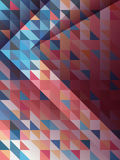 Abstract arrow with blue and pink triangles pattern Stock Photography