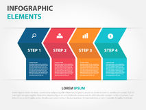Abstract arrow business Infographics elements, presentation temp. Late flat design vector illustration for web design marketing advertising Royalty Free Stock Photos