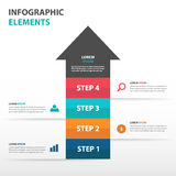 Abstract arrow business Infographics elements, presentation template flat design vector illustration for web design Stock Images