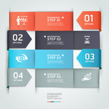 Abstract arrow business infographics template. Stock Photos