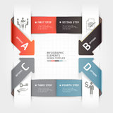 Abstract arrow business infographics template. Vector illustration. can be used for workflow layout, diagram, number options, step up options, banner, web Royalty Free Stock Photography