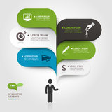 Abstract arrow business infographics template. Stock Image