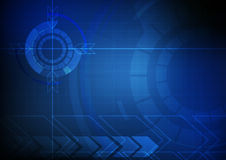 Abstract arrow and circle technology background Stock Photo