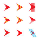 Abstract arrow company logo icons set. Vector Illustration EPS10 vector illustration