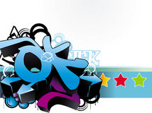 Abstract arrow composition. Abstract arrow and stars composition stock illustration