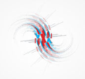 Abstract arrow computer technology business solution Stock Photos