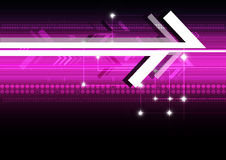 Abstract arrow digital background. Abstract arrow technology background vector Stock Image