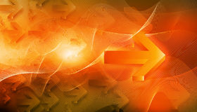 Abstract Arrow. Digital illustration of Abstract Arrow Background Stock Photo