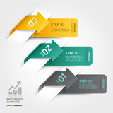 Abstract arrow infographics template. Royalty Free Stock Photos