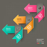 Abstract arrow infographics template. Vector illustration. can be used for workflow layout, diagram, number options, business step options, banner, web design Stock Image