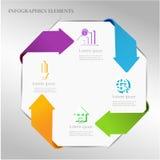 Abstract arrow infographics template. Stock Photos