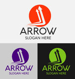 Abstract Arrow Logo Royalty Free Stock Photo