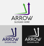 Abstract Arrow Logo Stock Photography