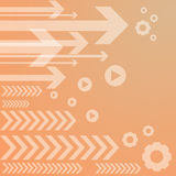 Abstract arrow on orange background. Royalty Free Stock Photography
