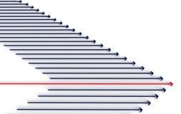 abstract arrow race Стоковое фото RF
