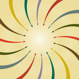 Abstract Arrow Retro Background. Vector illustration Royalty Free Stock Image