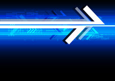 Abstract arrow technology background Stock Photography