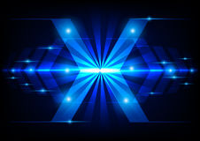 Abstract arrow technology on blue light concept Stock Photos