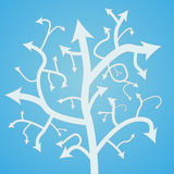 Abstract arrow tree. Template for different purposes. Vector illustration Royalty Free Illustration