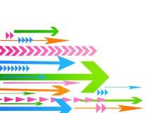 Abstract arrow vector illustration. On white stock illustration