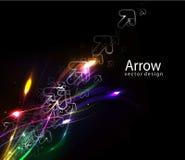 Abstract arrow wave Royalty Free Stock Photos