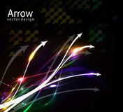 Abstract arrow wave. Colorful abstract arrow wave vector background Stock Photos