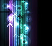 Abstract arrows  background. Abstract glowing background with cd and arrows Stock Photography