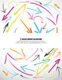 abstract arrows background colored 向量例证