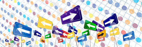 Abstract arrows background. Colorful abstract arrows template background Royalty Free Stock Photo