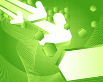 Abstract arrows background green fresh 3d Royalty Free Stock Photography