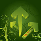 Abstract arrows background green fresh 3d Royalty Free Stock Photo