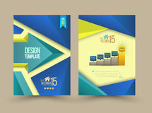 Abstract Arrows Brochure Flyer design. Layout vector template in A4 size. Vector illustration Royalty Free Illustration
