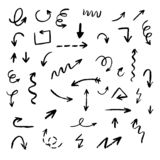 Abstract arrows and doodles royalty free stock photo