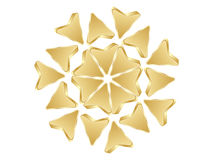 Abstract arrows golden design Royalty Free Stock Photo