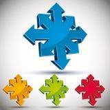 Abstract arrows icon. Abstract arrows 3d vector icon Stock Illustration