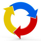 Abstract arrows icon 3. Abstract arrows icon on a white background, three-dimensional rendering, 3D illustration vector illustration