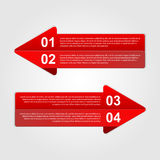 Abstract arrows infographic. Modern design element Stock Photography