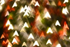 Abstract arrows shape bokeh for background. Abstract arrows shape bokeh for texture background beautiful blink blur blurred bright brilliant carnival celebration stock images